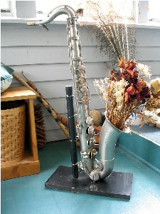 antique tenor saxophone