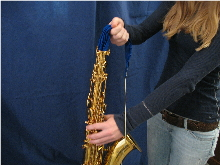 swab body of saxophone